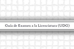 guía licenciatura